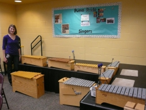 New instruments at Sunny Pointe Elementary (Metallophones, Xylophones, and Glockenspiel)